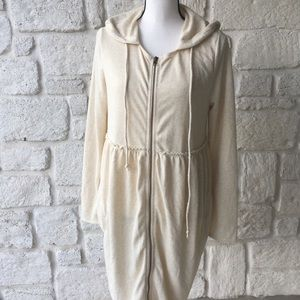 Easel Cream Terrycloth Babydoll Dress / Size Med
